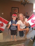 Jackie and Jackson all dressed up for Canada Day