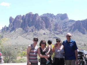Standing in front of the Superstition Mountains
