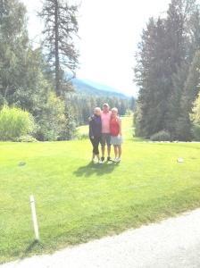A wonderful sunny day golfing at Kokanee Springs