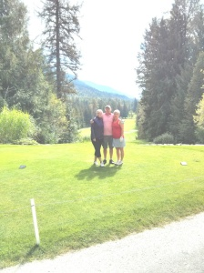 A wonderful sunny day golfing at Kokanee Springs