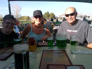 Having a Green Beer with Fred & Terry