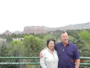 Jeff & Wendy at the Red Mountains on our road trip