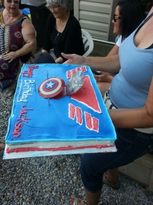 Every kid needs a Super Hero Cake !!