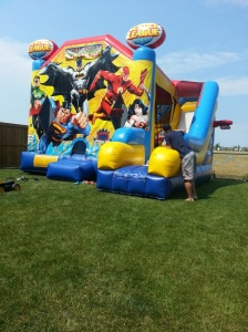 Now that is a bouncy house. More like a mansion. It was huge !! At least 20 kids could fit