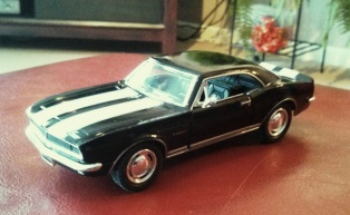 My Christmas Toy 1967 Camaro RS/SS Black with white stripes