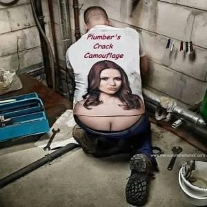 Plumbers crack camo