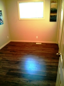 New flooring in room