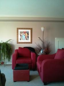 Tarkay in livingroom