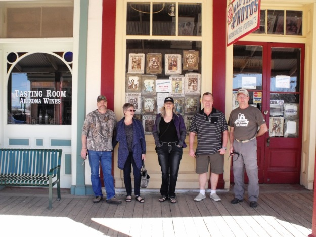Fred Terry Jackie Jeff Mel on the boardwalk in Tombstone AZ