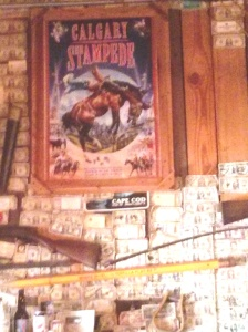 Calgary Stampede sign in country bar