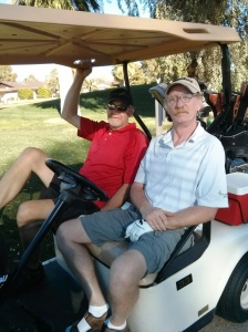 Keith & Larry golfing