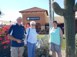 Larry, Mom and Darlene at  Anthem Outlets