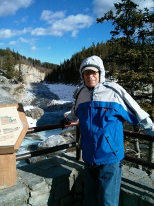 Peter visiting Elbow Falls
