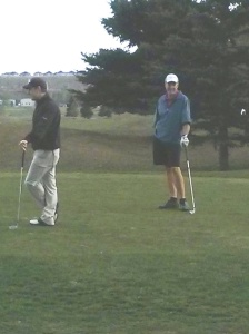 Corey & I on the Tee