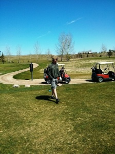 Keith on the course
