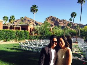 Camelback Mountain in the background