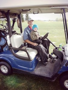 Jackson & I golfing earlier this year
