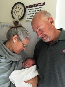 Grammy & Papa with August ( 4 hrs old)