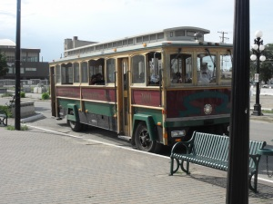 Our trolley that took us all over town. Amazing history compared to any prairie town I have seen