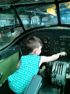 Practicing being a pilot