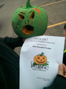 Prize winning pumpkin