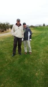 Corey & I golfing