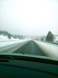 Three hours of driving thru the pass in wintry conditions