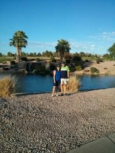 Jackie & I golfing VP golf course