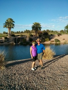 Russ & Carol golfing with us at VP golf course