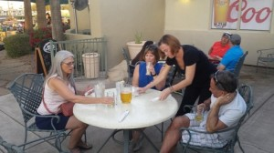 Fat Willy's patio with Jackie Tracy and Ralph