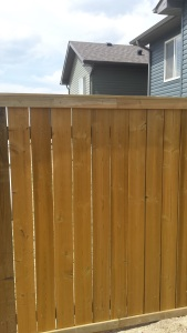 Fence trim work all done