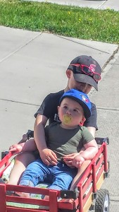Going to the park with August & Jackson