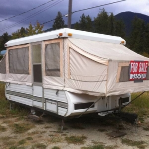 Our first mobile camping unit.