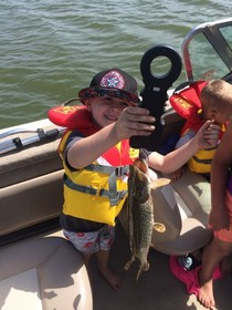 Jackson's first fish !!