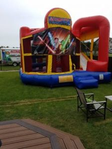 Now that is a bouncy house. HUGE !