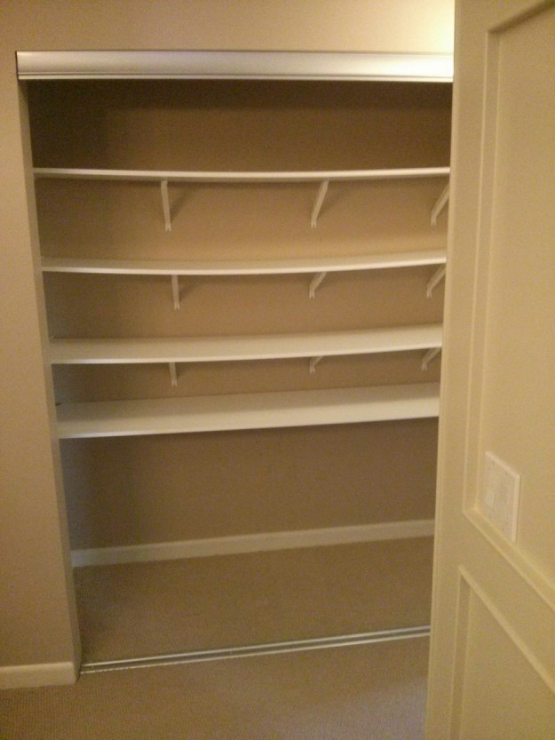 The builders idea of a closet organizer !