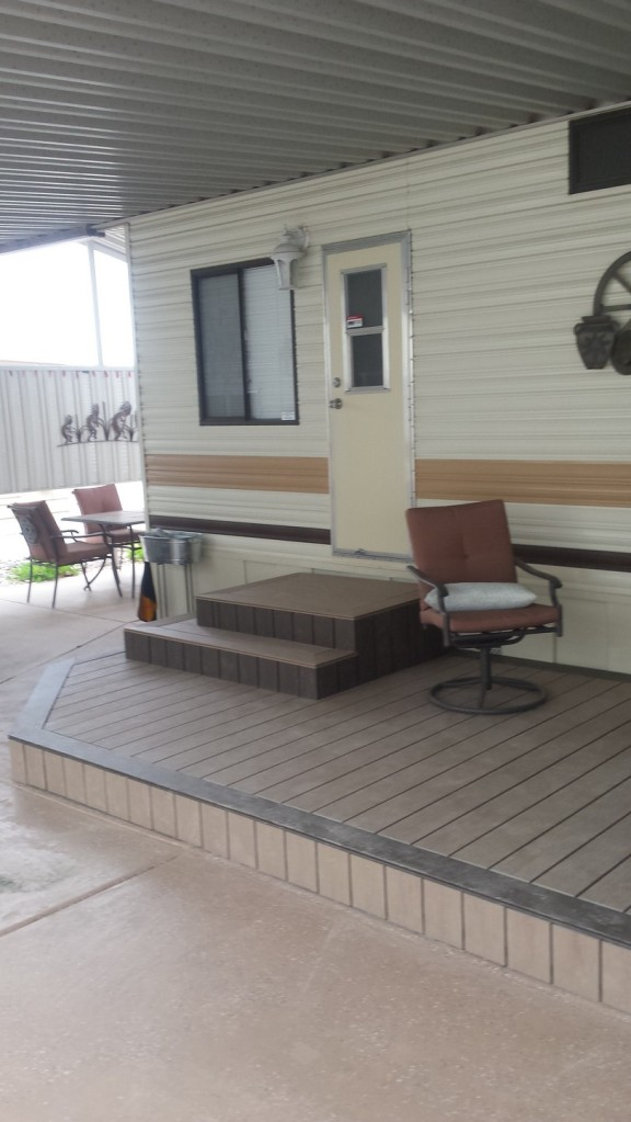 New composite decking looks great and should last 20 years.