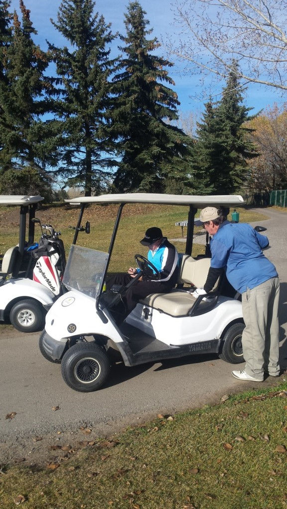 Golfing with Larry & Dave in late Oct in 14 degrees