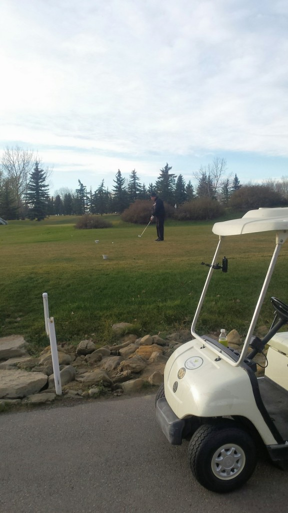 On our third nine of the day. Golfing 27 holes is a lot. LOL