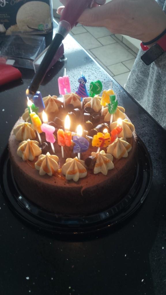 Alan's 53rd cake. Rolo Cake