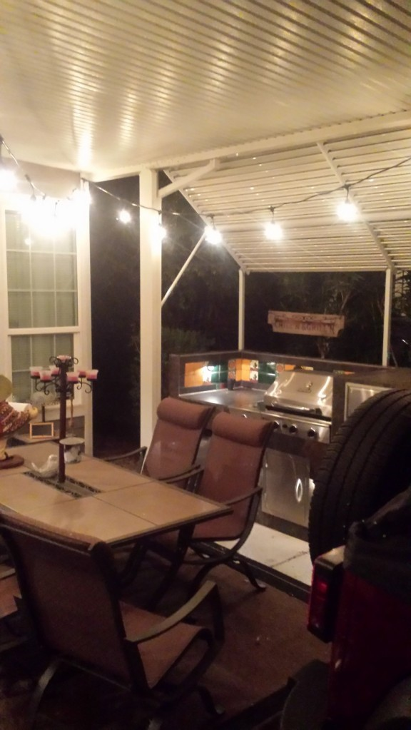 New Patio Lights up