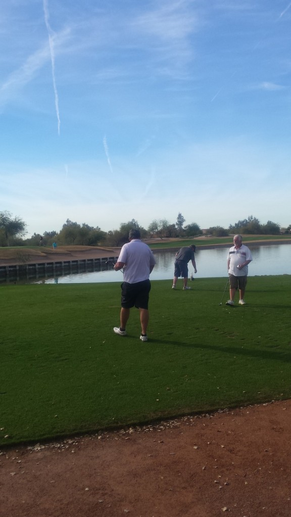 Ian, George and Bob at Legacy Golf